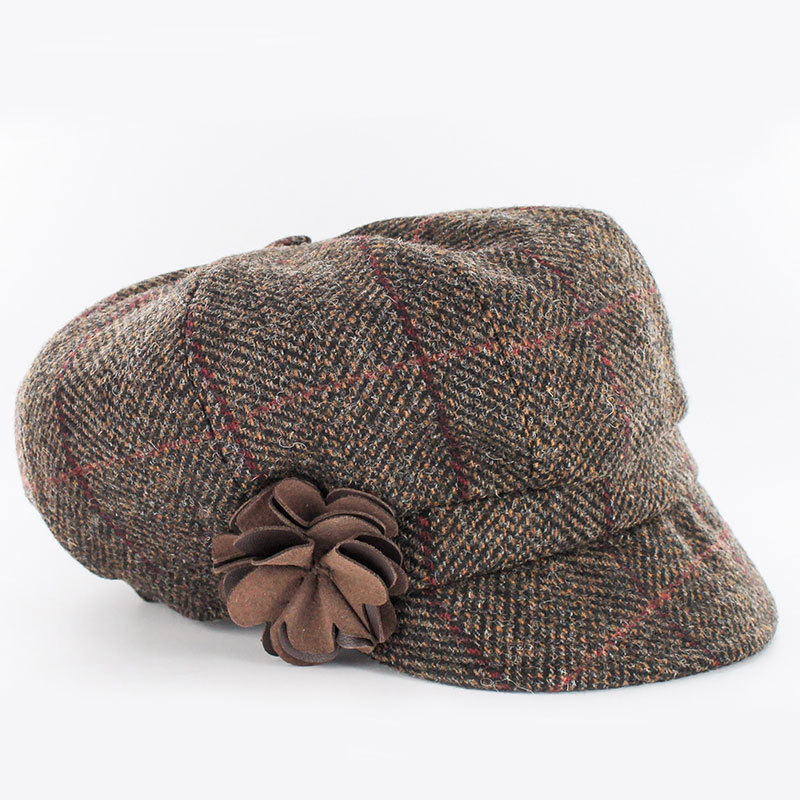 a66f9880 Mucros Weavers Irish Wool Newsboy Cap ~ Brown