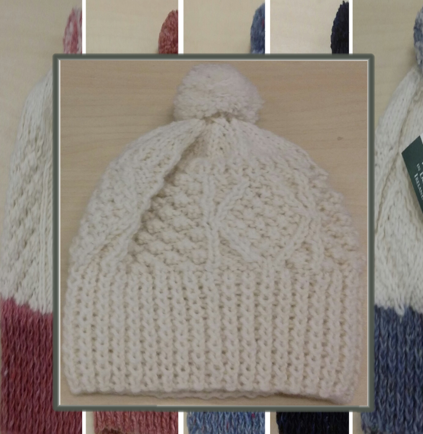 Hand Knit Child Ski Hat  ~ Made in Ireland