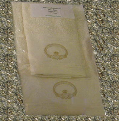 Claddagh Irish Guest Towel Set