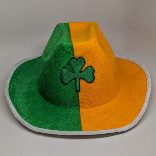 Tri-Color Shamrock Cowboy hat
