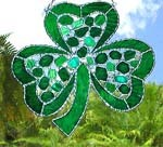 Irish Shamrock Suncatcher with Filigree