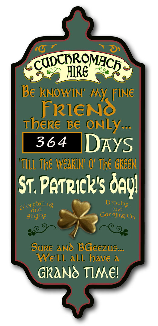 St. Patrick's Day Important Notice Sign