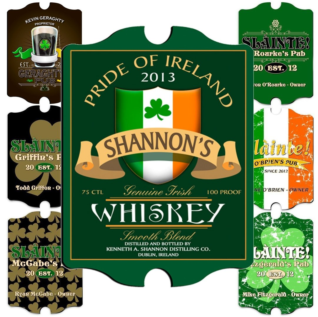 Vintage Personalized Irish Pub Sign ~ Various Designs