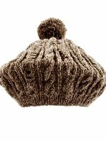 Hand Knit Irish  Tam in Natural Black Sheep Wool