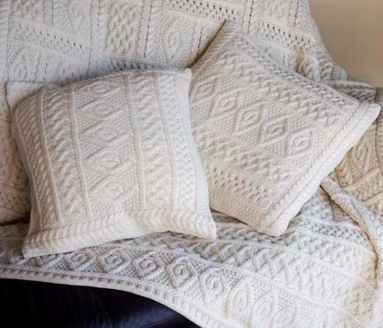 Aran Two Toned Cushion Covers