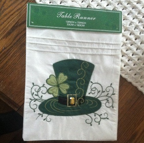 Irish Top Hat Table Runner - St. Patrick's Day