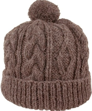 Hand Knit Black Sheep Irish Wool Ski Hat