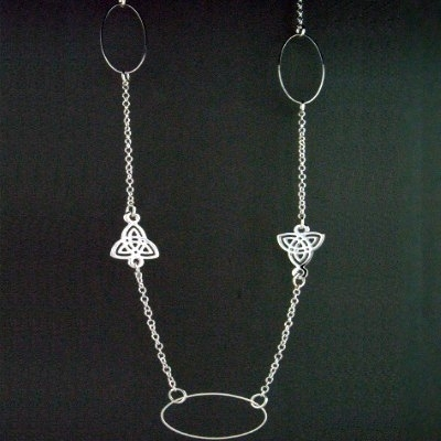 Long Elegant Trinity Necklace