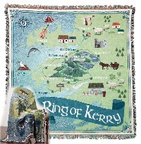 Irish Made Ring of Kerry Throw Blanket