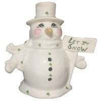 Let It Snow Irish Snowman Votive