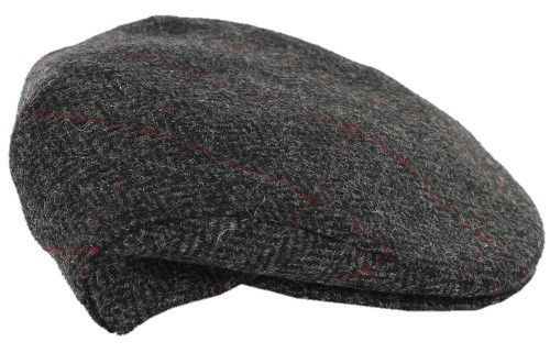 Charcoal Herringbone Trinity Irish Wool Cap