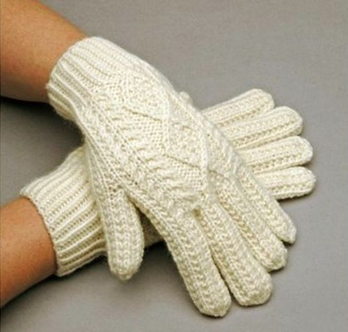 Irish Wool Hand Knit Gloves