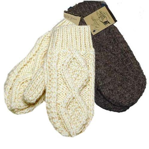 Irish Wool Hand Knit Mittens
