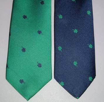 All Over Shamrocks Irish Neck Tie