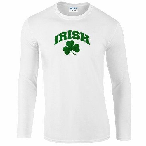 Irish White Long Sleeve T Shirt
