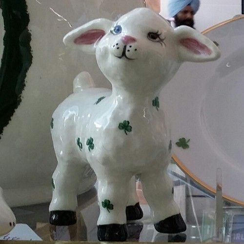 Little Lamb Standing Ceramic Statue
