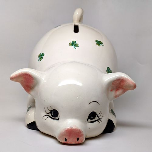 Large Shamrock Piggy Bank