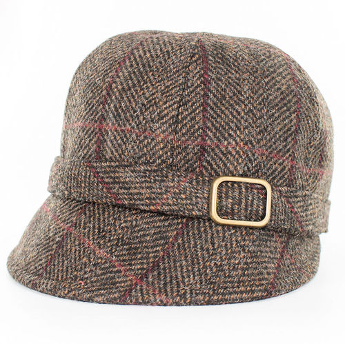 Mucros Weavers Herringbone Flapper Cap ~ Brown
