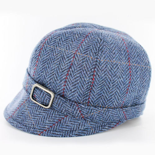 Mucros Weaver Blue Herringbone Flapper Hat