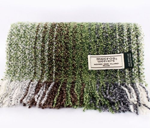 Irish Skellig Scarf Green Mix - Wool & Cashmere