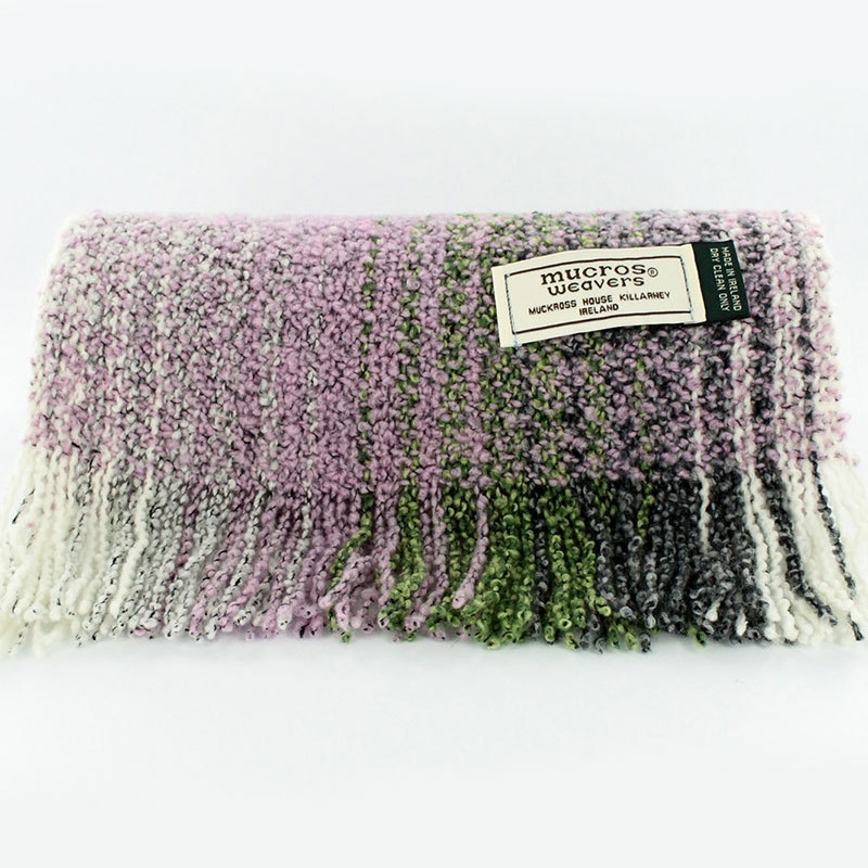 Irish Skellig Scarf Lavender Mix - Wool & Cashmere