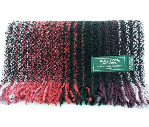 Irish Skellig Scarf Red Mix - Wool & Cashmere