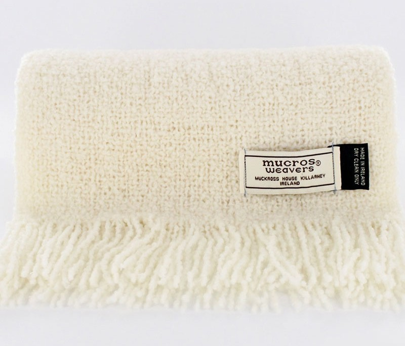 Irish Skellig Scarf Natural - Wool & Cashmere