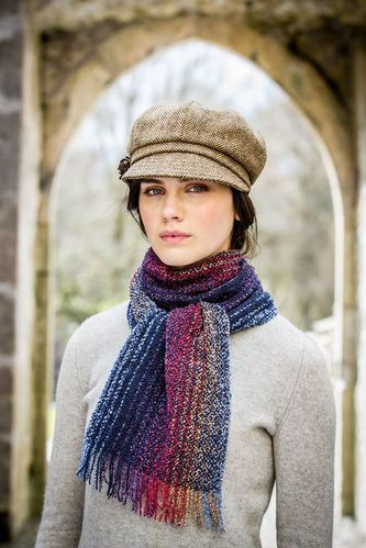 Irish Skellig Scarf Dark Multi-Color - Wool & Cashmere