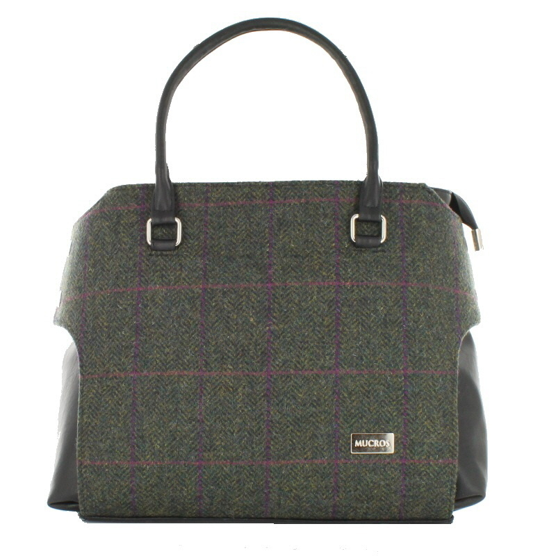 Green Tweed Emily Pocketbook – Mucros Weavers Ireland