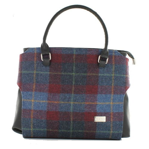 Tweed Blue & Red Plaid Emily Pocketbook – Mucros Weavers Ireland