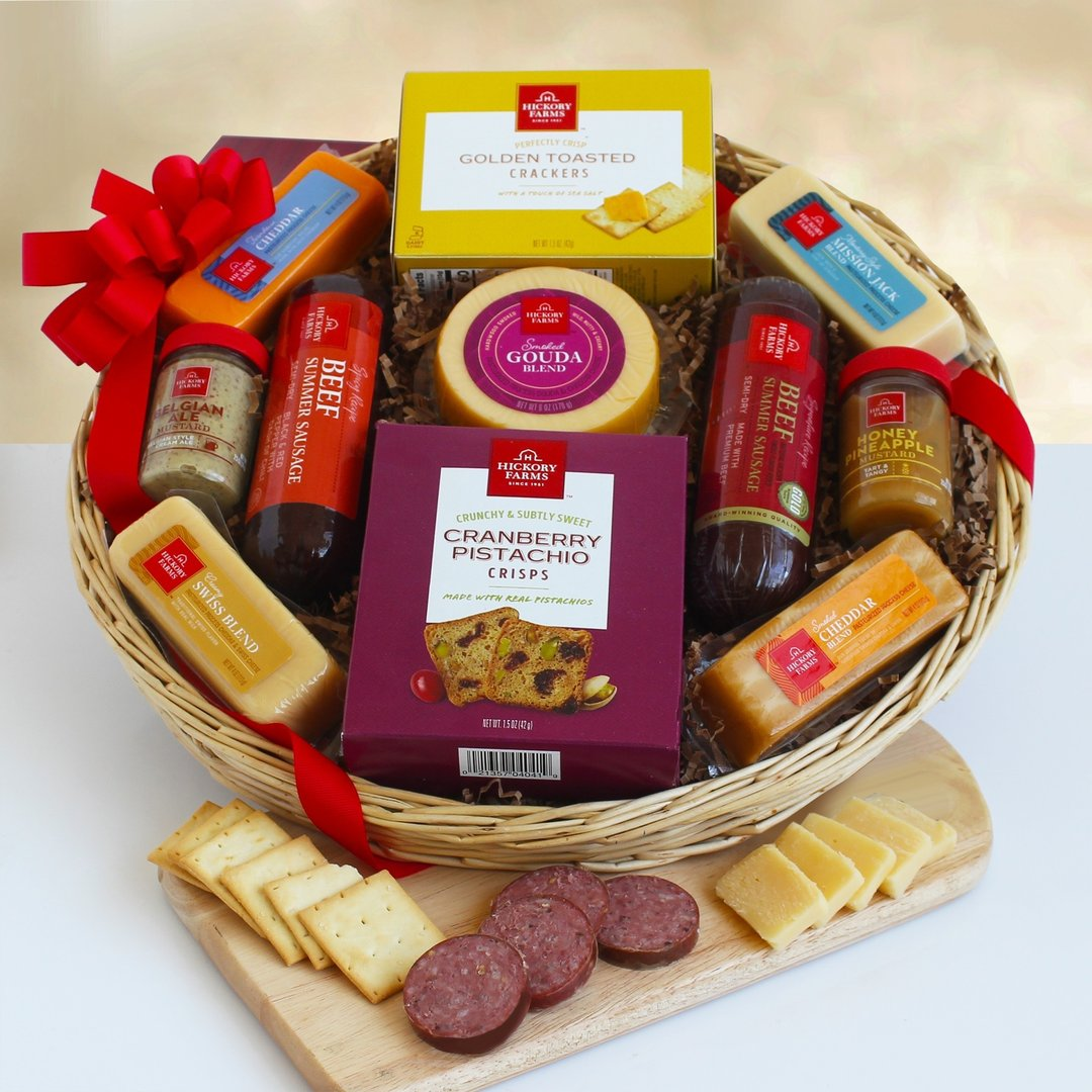Meat & Cheese Holiday Gift Basket