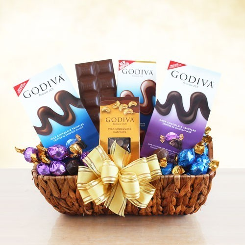 The Godiva Chocolate Samples Gift Basket