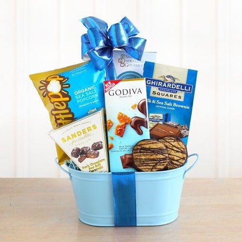 Carmel & Sea Salt Chocolate Gift Basket