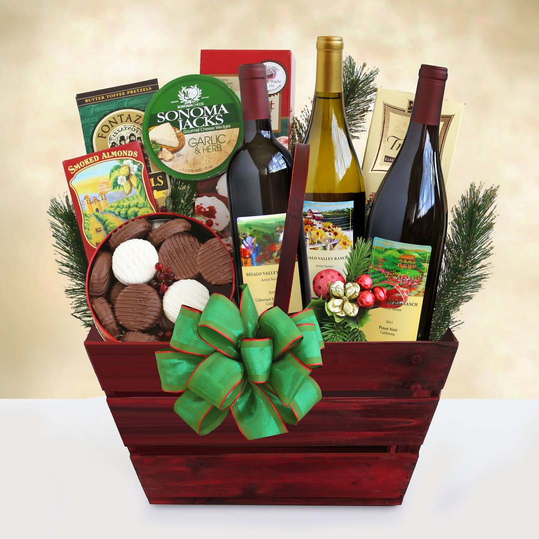 Wine Country Bonty Red & White Wine Basket
