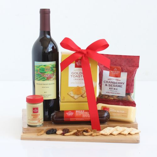 Napa Valley Wine and Cheese Gift Basket