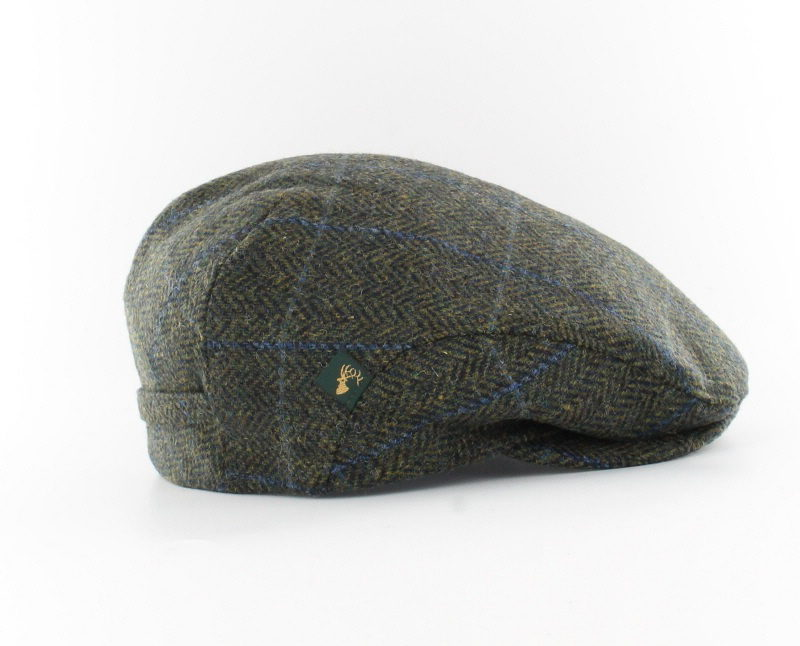 Dark Grey Green Trinity Irish Wool Cap ~ Mucros Weavers