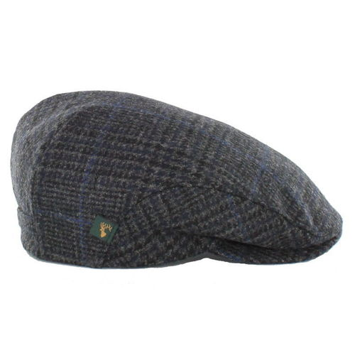 Grey and Black Houndstooth Trinity Irish Wool Cap