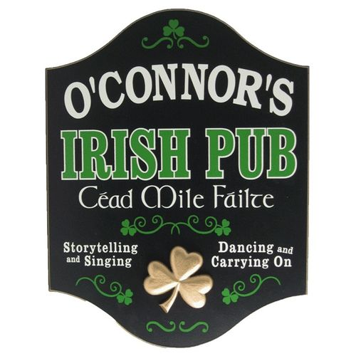 Cead Mile Failte Personalized Pub Sign