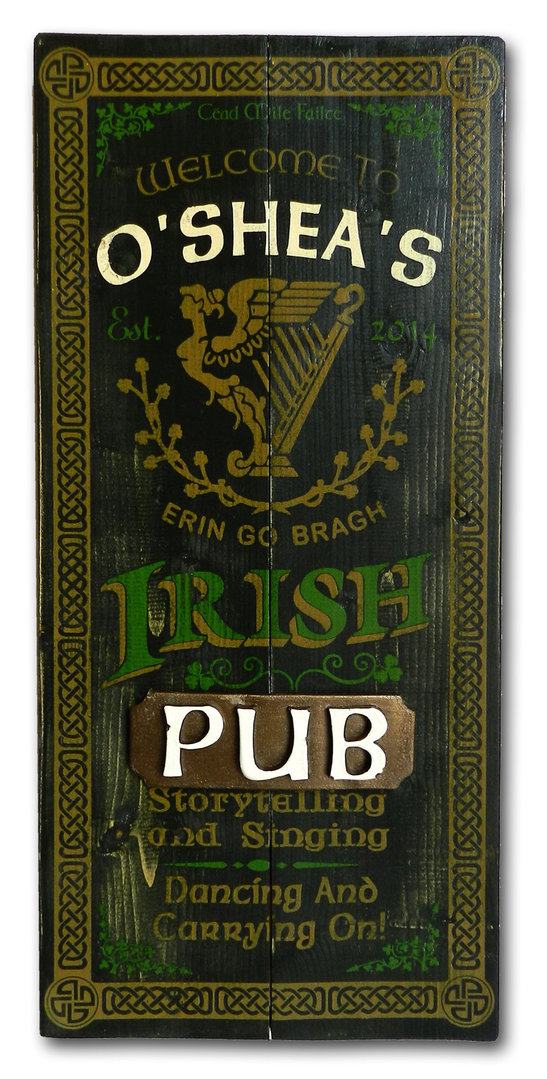 Irish Pub Personalized Plank Sign