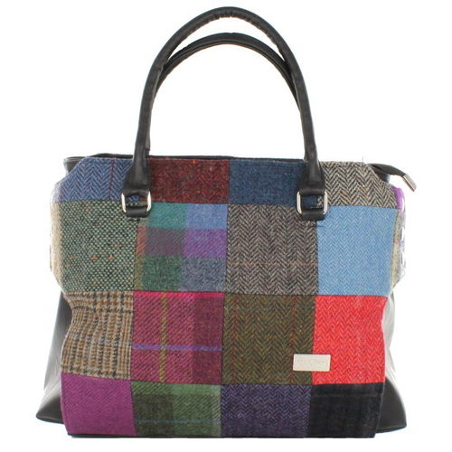 Dark Patchwork Emily Pocketbook – Mucros Weavers Ireland