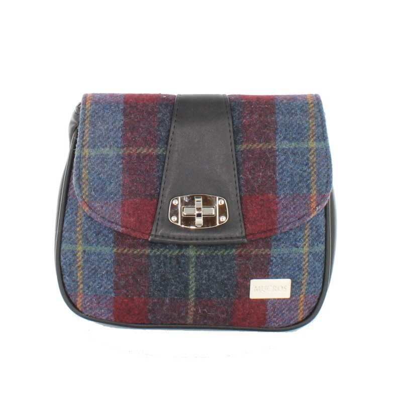 Blue Red Plaid Sarah Pocketbook – Mucros Weavers Ireland