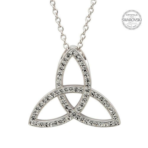 Crystal Celtic Trinity Knot Necklace