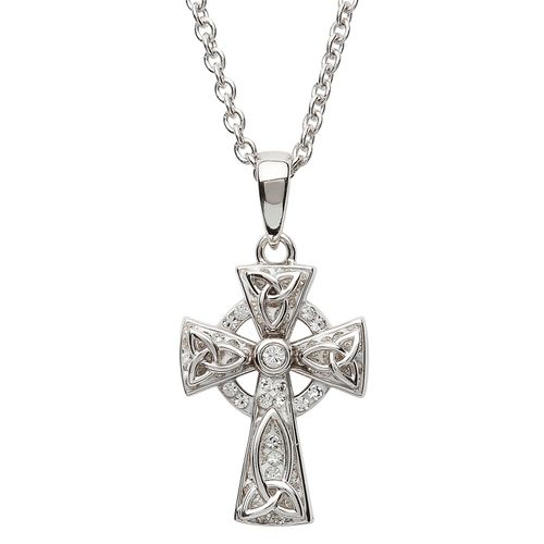 Celtic Trinity Knot Cross With Swarovski