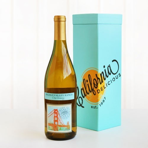 Regalo Chardonnay Wine Teal Wine Box Gift