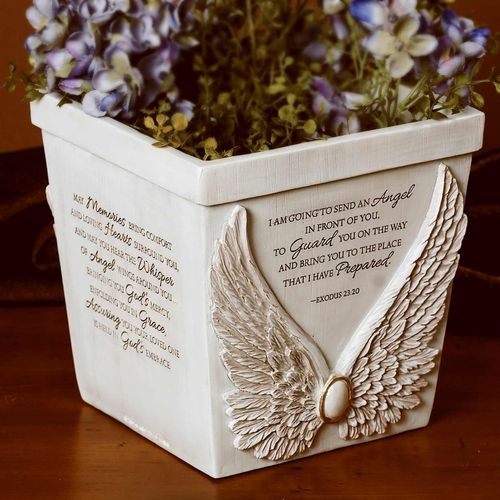 Memorial Angel Wings Planter