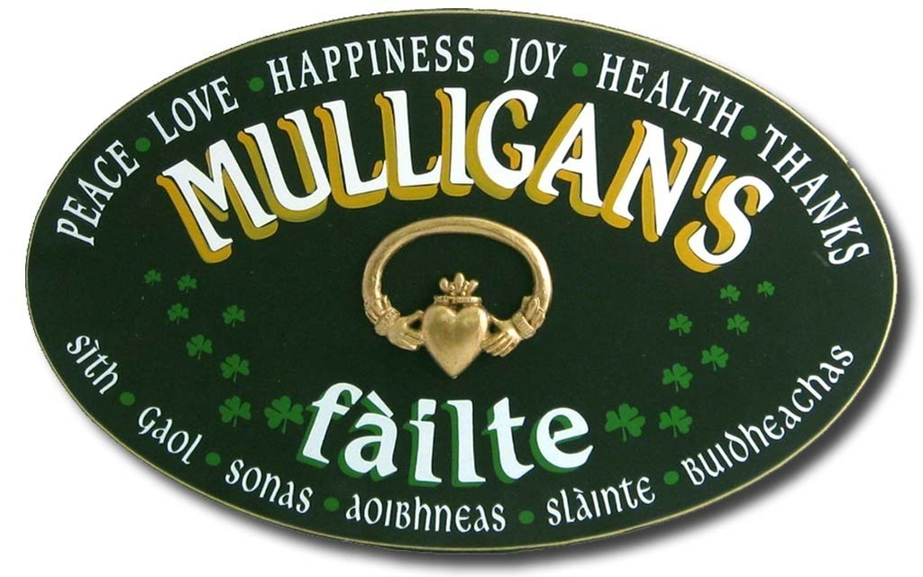 Personalized Irish Welcome Sign - Cead Mile Failte