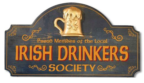 Irish Drinkers Society Plaque - Wall Sign