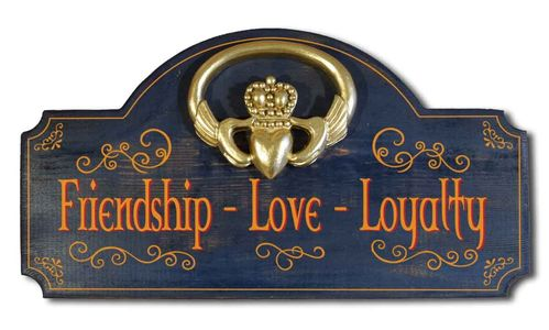 Claddagh Wall Sign - Irish Plaque