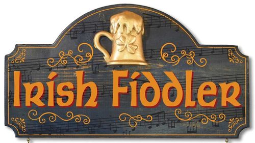 Irish Fiddler Plaque - Wall Sign