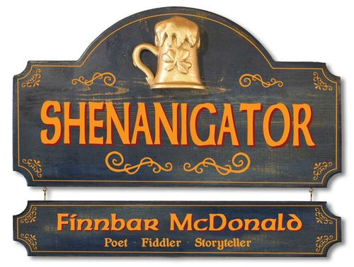 Personalized Shenanigator Irish Plaque - Wall Sign